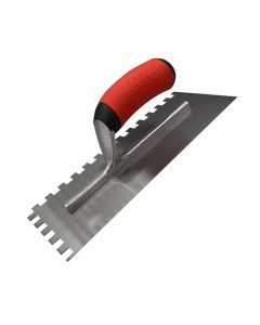 Trade Notched Square Trowel Soft Grip 10mm Teeth 11in x 4.5in