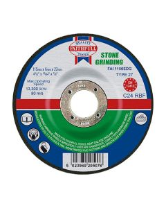 Stone Grinding Disc - Depressed 22x115mm