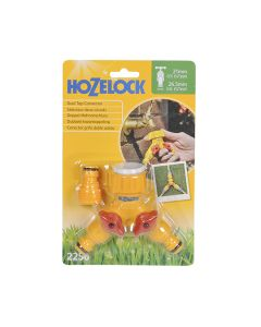 Hozelock Hose Pipe Fitting Dual Tap Connector