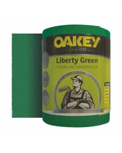 Oakey Liberty Green Sanding Roll 120G 115mm x 5m