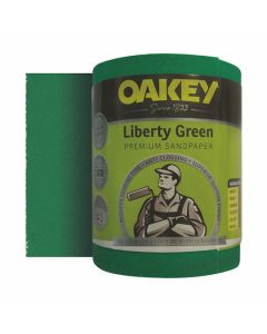 Oakey Liberty Green Sanding Roll 40G 115mm x 5m