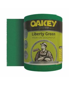 Oakey Liberty Green Sanding Roll 80G 115mm x 5m