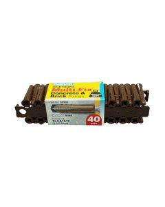 Plasplugs Multi-Fix Concrete Fixings Brown 6mm Pack of 40