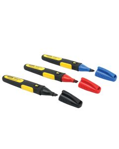 STANLEY FatMax Durable Permanent Marker Pen Pk3