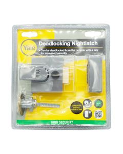 YALE Lock - Night Latch Security Narrow 40mm Gun Metal