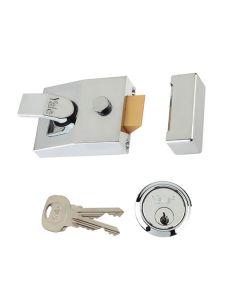 YALE Lock - Night Latch Security Standard 60mm Chrome
