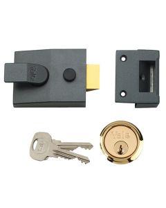 YALE Lock - Night Latch Security Standard 60mm Gun Metal
