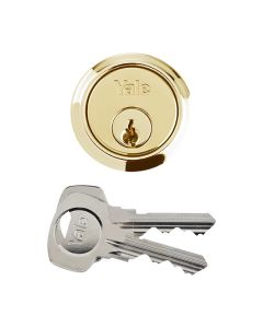 YALE Replacement Cylinder Lock 2 Keys Brass