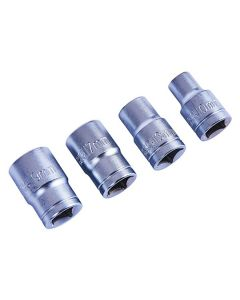 Socket Set 1/2in. Drive 4Pcs 10-19mm