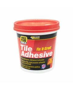 Everbuild 703 Tile Adhesive Fix & Grout - Ready Mixed 750g White