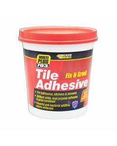 Everbuild 703 Tile Adhesive Fix & Grout - Ready Mixed 1.5kg White