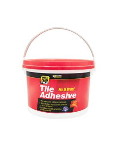 Everbuild 703 Tile Adhesive Fix & Grout - Ready Mixed 3.75kg White