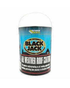 Everbuild Black Jack Bitumen All Weather Roof Coating 5L