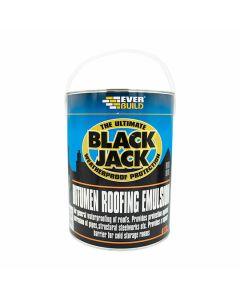 Everbuild Black Jack Bitumen Roofing Emulsion 5L