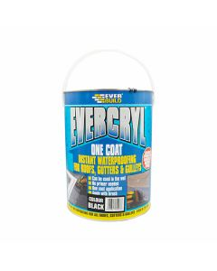 EVERCRYL Roof Repair Compound One Coat Waterproofing 5kg Black