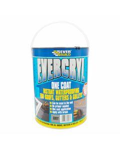 Everbuild Evercryl One Coat Roof Repair Grey 5kg
