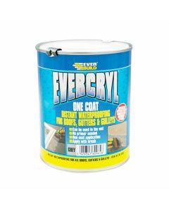 Everbuild Evercryl One Coat Roof Repair Grey 1kg