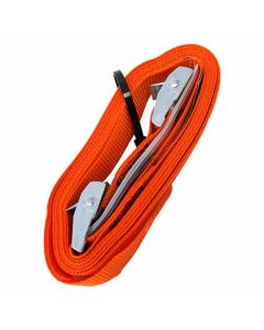 Jumbo Tie Down Light Duty With Buckle 250kg Orange 2m 2 Pack