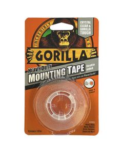 GORILLA Mounting Tape H/Duty Double Sided 25mmx1.52m