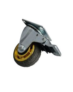 Castor - Rubber Medium Duty with Brake 75mm