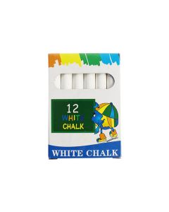 Anti Dust Chalk Sticks Pk12 White