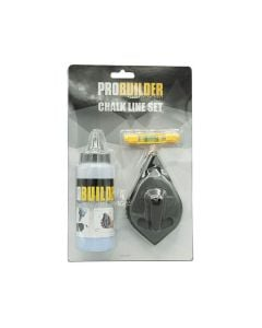 PROBUILDER Chalk Line Reel (30mtr + Chalk + Line Level)