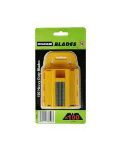 Spearhead Heavy Duty Knife Blades Dispenser Pack of 100