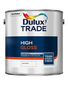 Dulux Trade High Gloss Paint Pure Brilliant White 5L