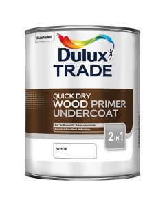 DULUX Trade Q/Drying Wood Primer Undercoat 1L White