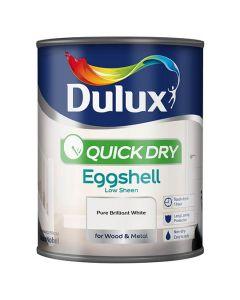 DULUX Retail Quick Dry Eggshell 750ml B/White
