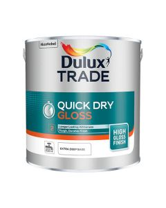 Dulux Trade Quick Dry Gloss Paint Pure Brilliant White 2.5L