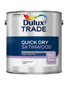 DULUX Trade Quick Dry Satinwood 1L B/White