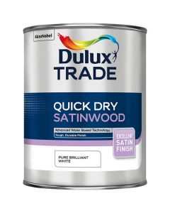 DULUX Trade Quick Dry Satinwood 2.5L B/White