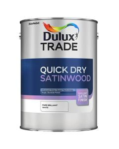 DULUX Trade Quick Dry Satinwood 5L B/White