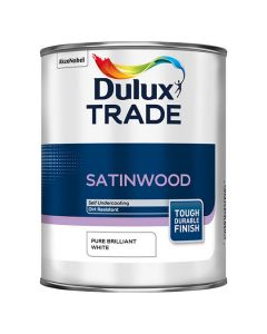 DULUX Trade Satinwood 1L B/White