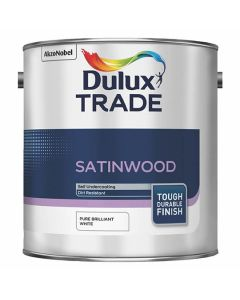 DULUX Trade Satinwood 2.5L B/White