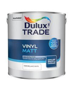 DULUX Trade Vinyl Matt 2.5L B/White