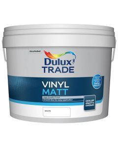 DULUX Trade Vinyl Matt 10L White