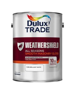 DULUX Trade Weathershield All Season Gloss 5L Pure Brilliant White