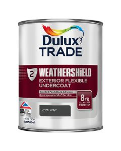 DULUX Trade Weathershield Ext Gloss 1L Black