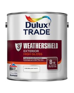 DULUX Trade Weathershield Ext Gloss 2.5L B/White 3