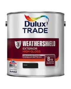 DULUX Trade Weathershield Ext Gloss 2.5L Black