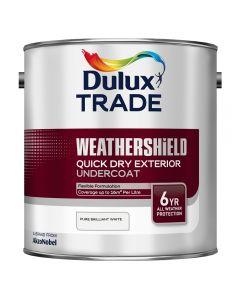 DULUX Trade Weathershield Ext Q/D Undercoat 2.5L B/White