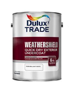 DULUX Trade Weathershield Ext Q/D Undercoat 5L Pure Brilliant White