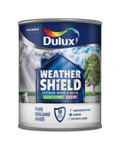 DULUX Retail Weathershield Exterior Satin 750ml B/White