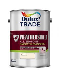 Dulux Trade Weathershield Masonry Smooth 5L Gardenia