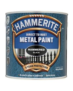 Hammerite Metal Paint Hammered Finish Black 2.5L
