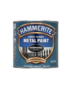 HAMMERITE Metal Paint - Hammered Finish 750ml Black