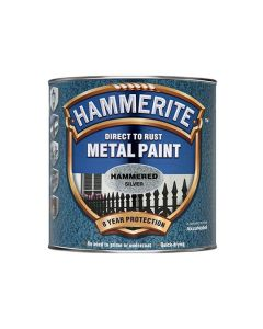 HAMMERITE Metal Paint - Hammered Finish 750ml Silv Grey