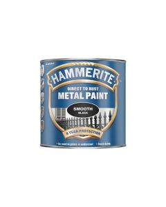 HAMMERITE Metal Paint - Smooth Finish 250ml Black